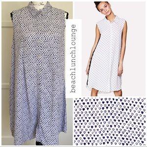 beachlunchlounge Shirt Dress Hi-Lo XL print Heart